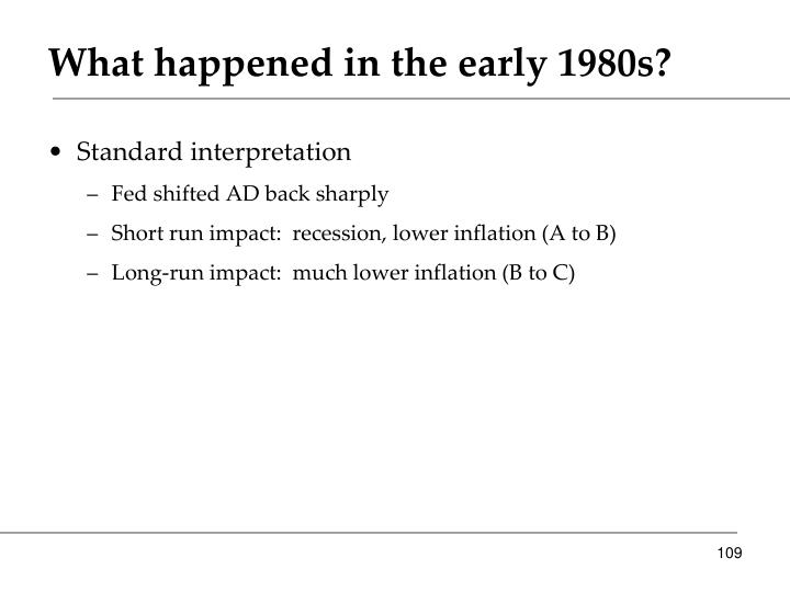 What happened in the early 1980s?