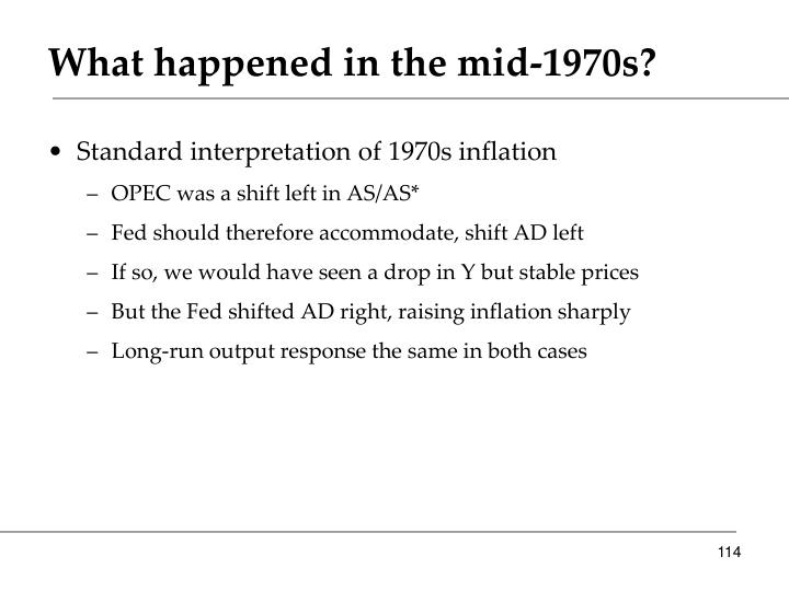 What happened in the mid-1970s?