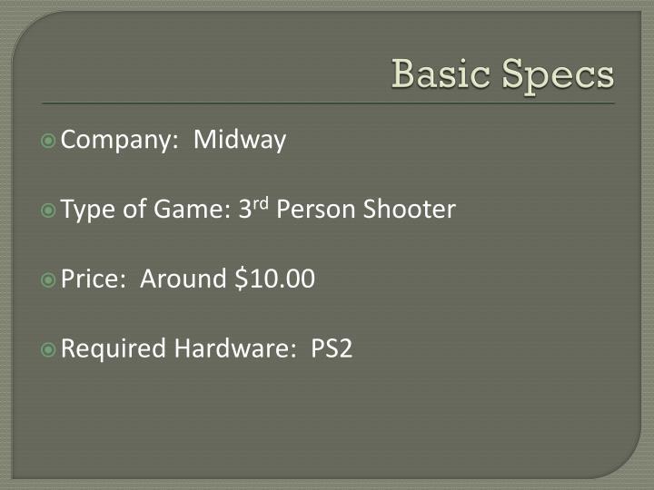 Basic Specs