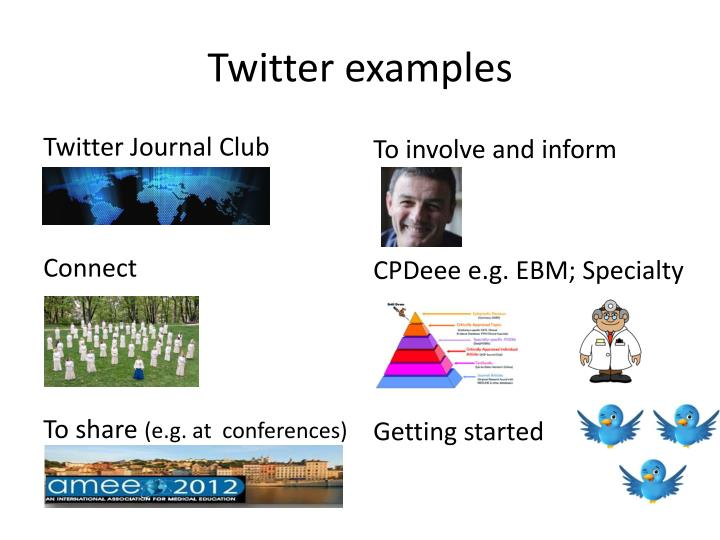 Twitter examples