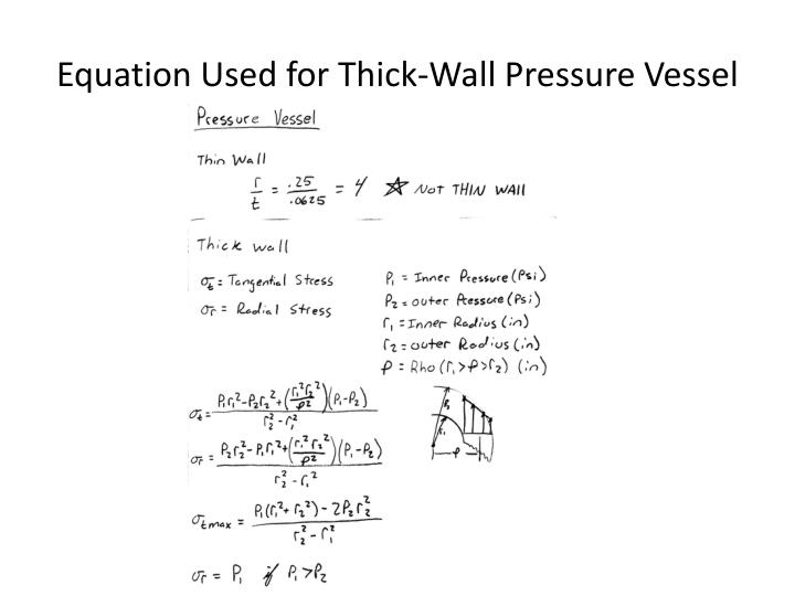 Equation Used for Thick-Wall Pressure Vessel