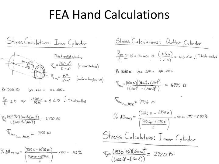 FEA Hand Calculations