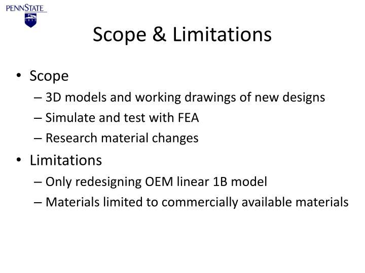 Scope & Limitations