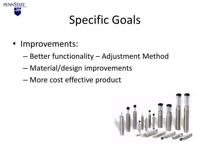 Specific Goals