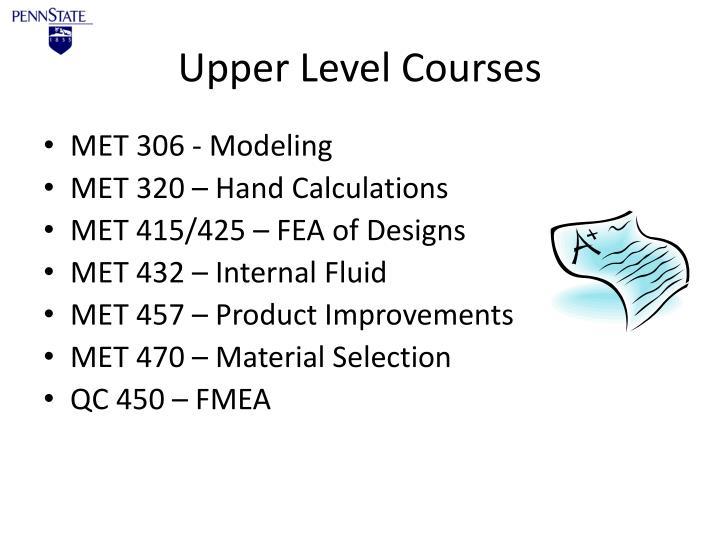 Upper Level Courses
