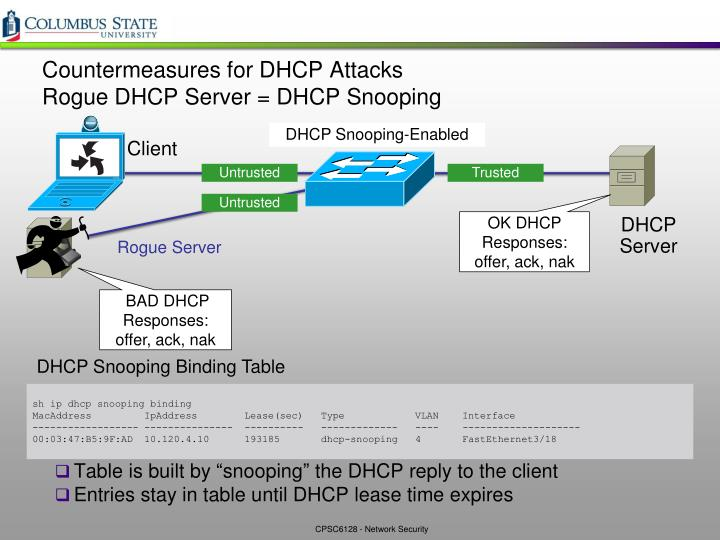 Countermeasures for DHCP Attacks