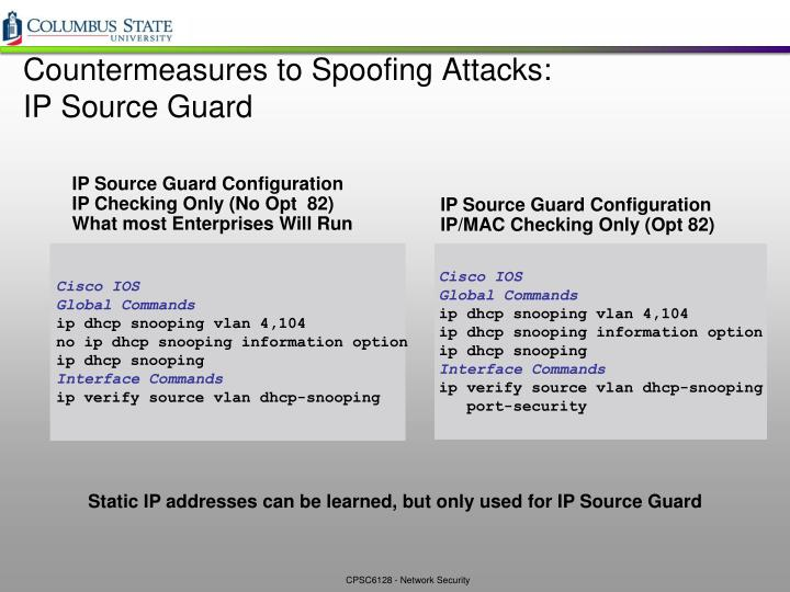 IP Source Guard Configuration