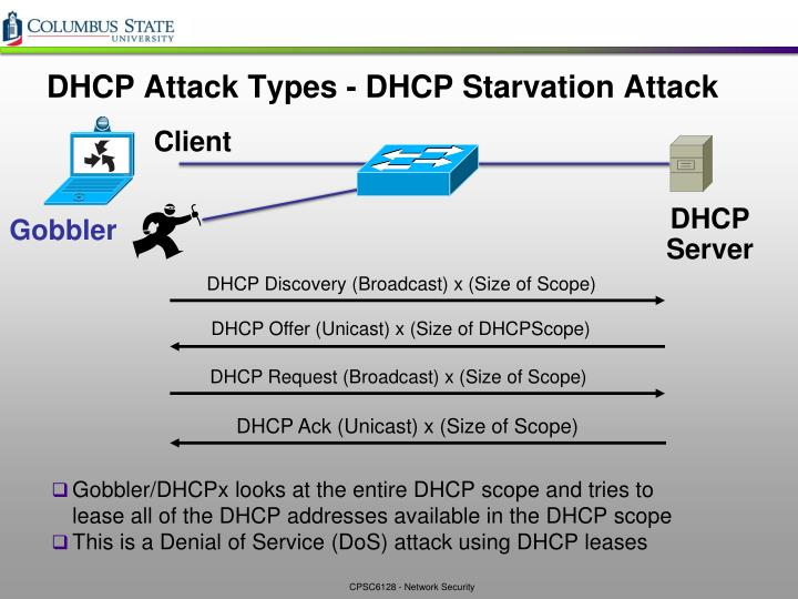 DHCP Discovery (Broadcast) x (Size of Scope)