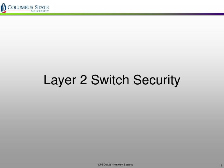 Layer 2 switch security