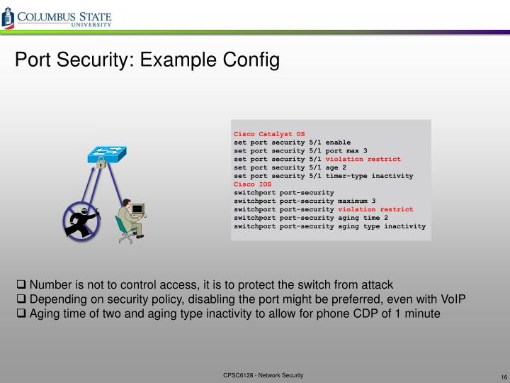 Port Security: Example Config
