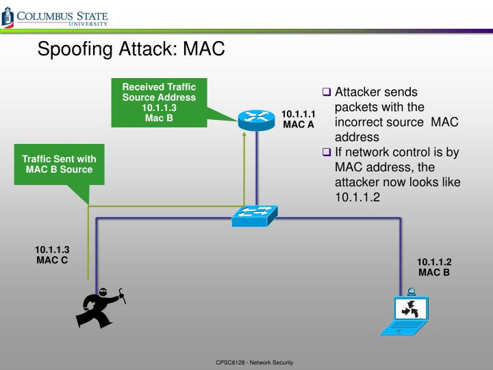 Spoofing Attack: MAC