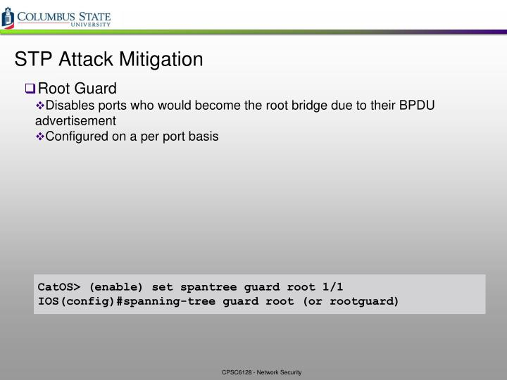STP Attack Mitigation