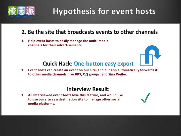 Hypothesis for event hosts