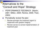 alternatives to the consult and hope strategy2