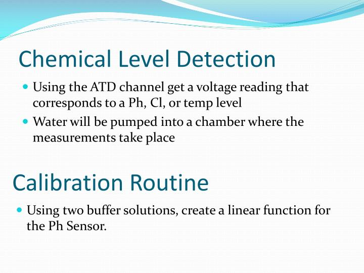 Chemical Level Detection