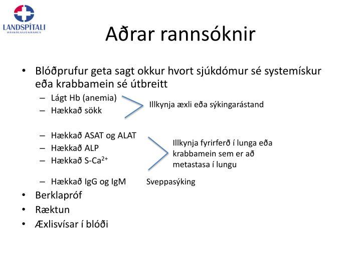 Aðrar rannsóknir