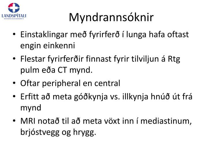Myndrannsóknir