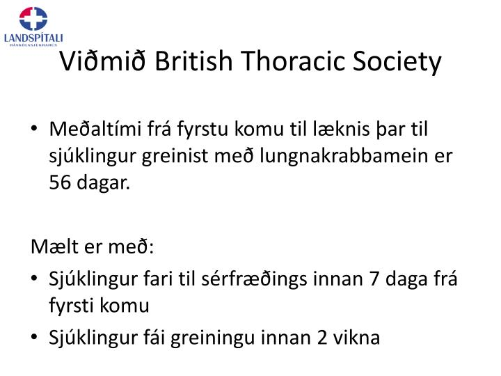 Vi mi british thoracic society