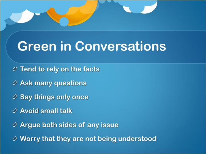 Green in Conversations