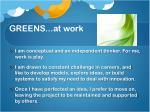 greens at work