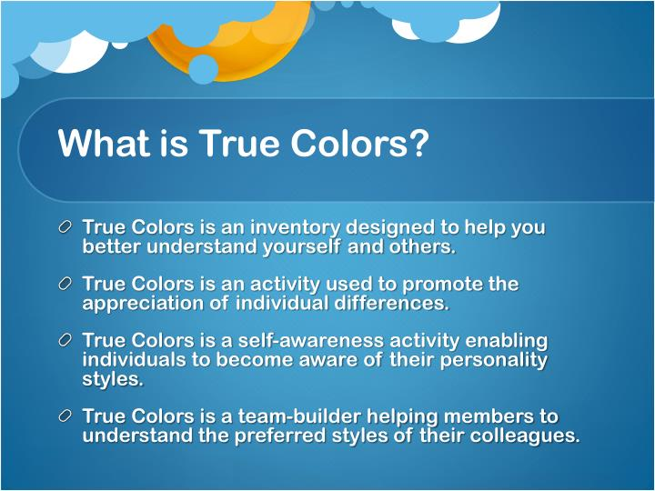 What is True Colors?