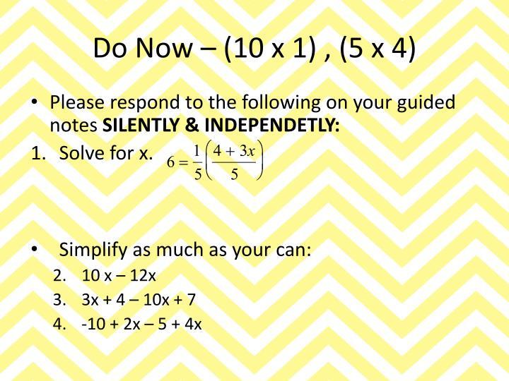 Do Now – (10