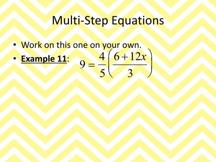 Multi-Step Equations