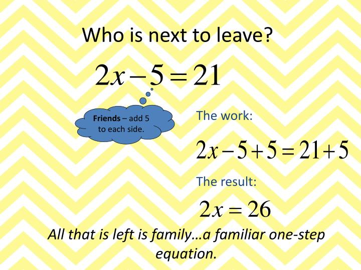 Who is next to leave?