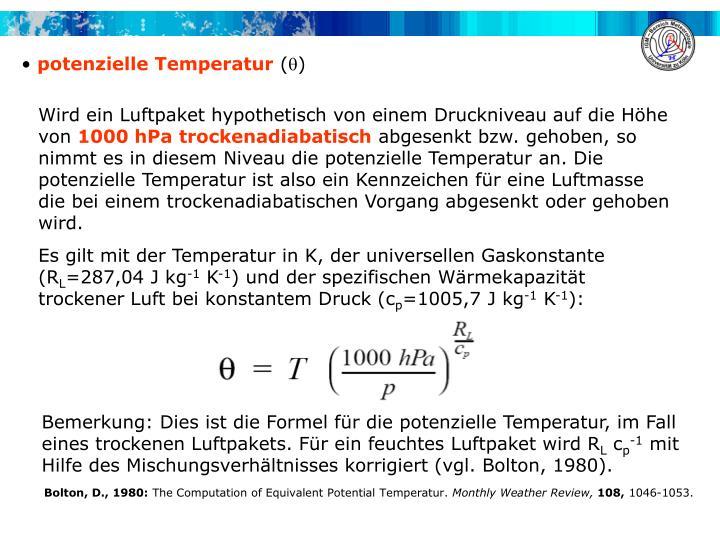 potenzielle Temperatur