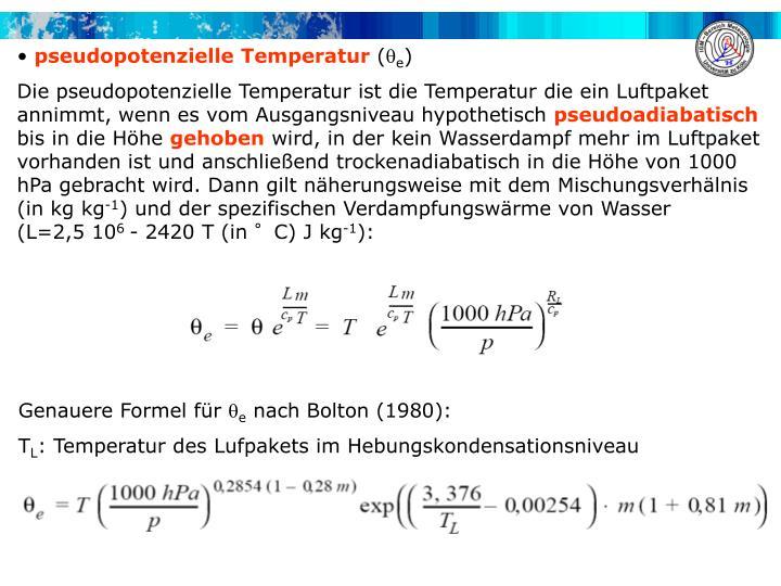 pseudopotenzielle Temperatur