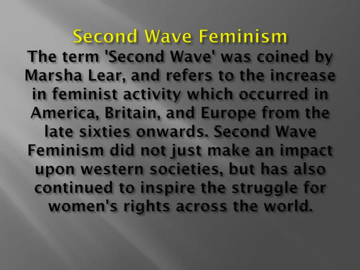 Second Wave Feminism