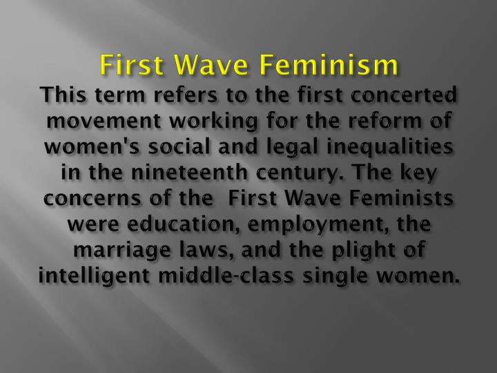 First Wave Feminism