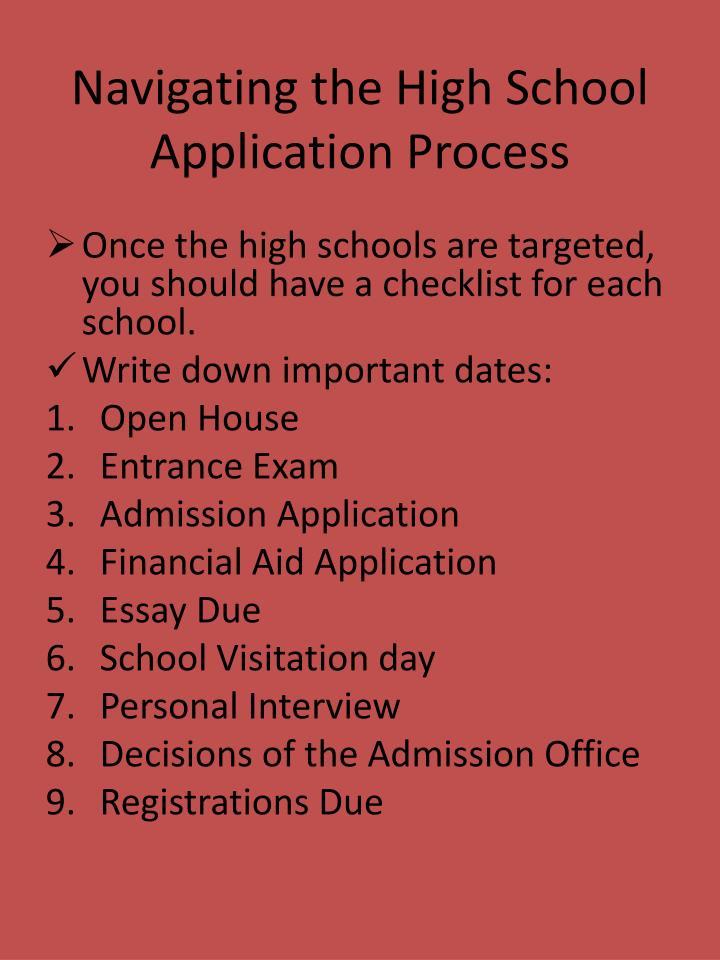 Navigating the High School Application Process
