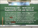 determining lre with use of supplemental aids and services1