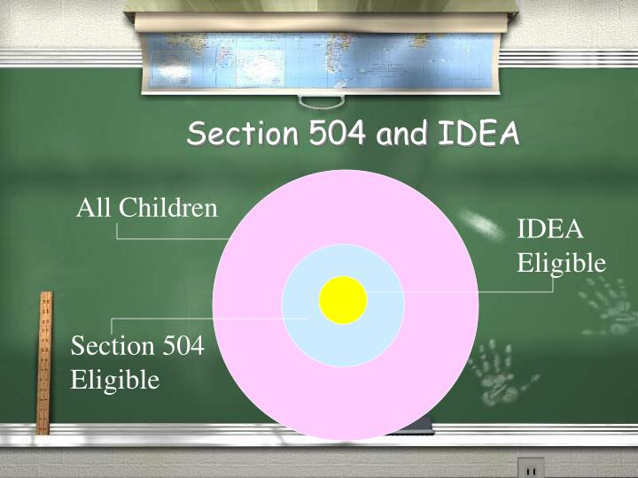 Section 504 and IDEA