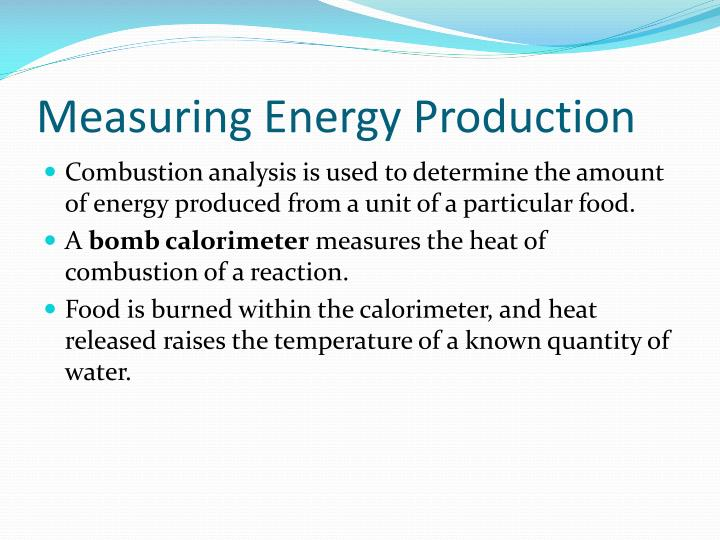 Measuring Energy Production