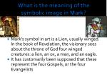 what is the meaning of the symbolic image in mark