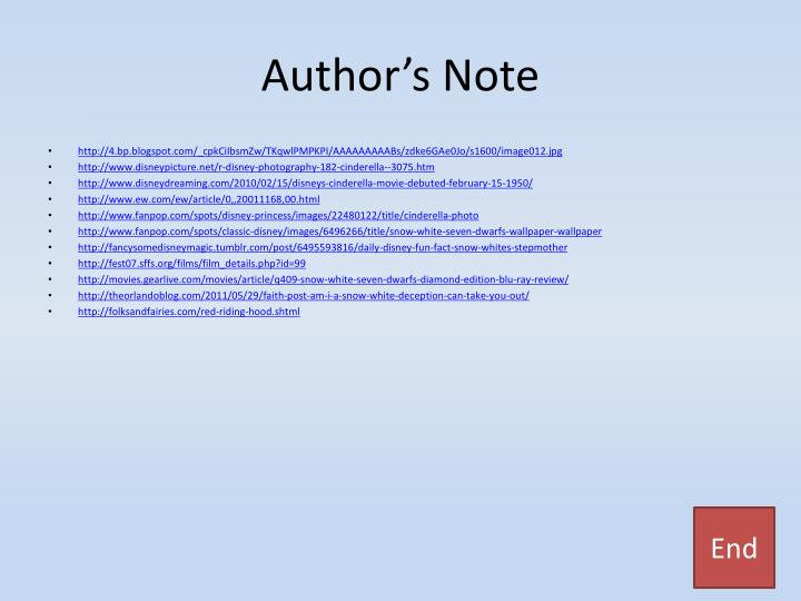 Author's Note
