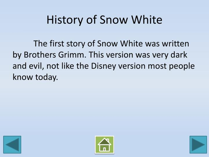 History of Snow White