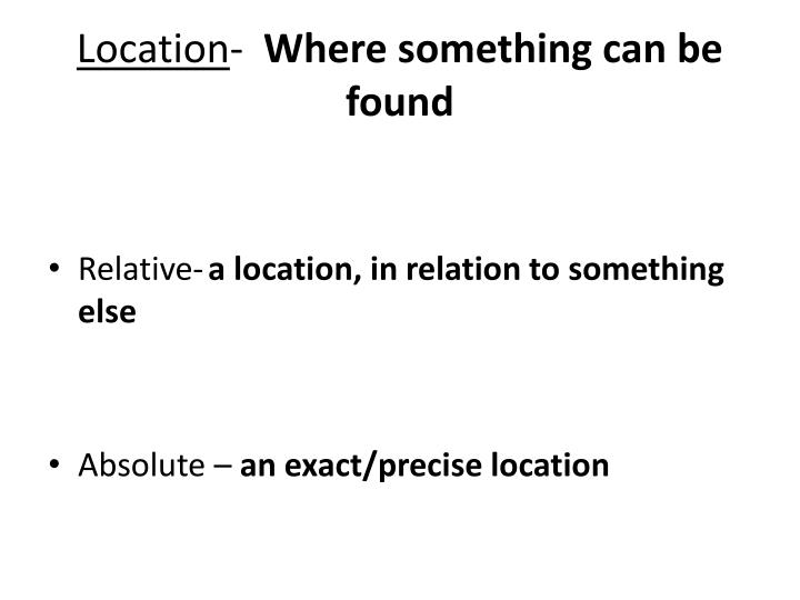 Location where something can be found