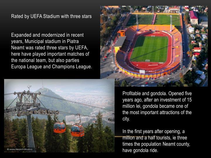 Rated by UEFA Stadium with three stars