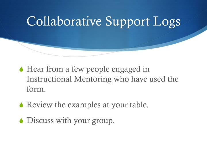 Collaborative Support Logs