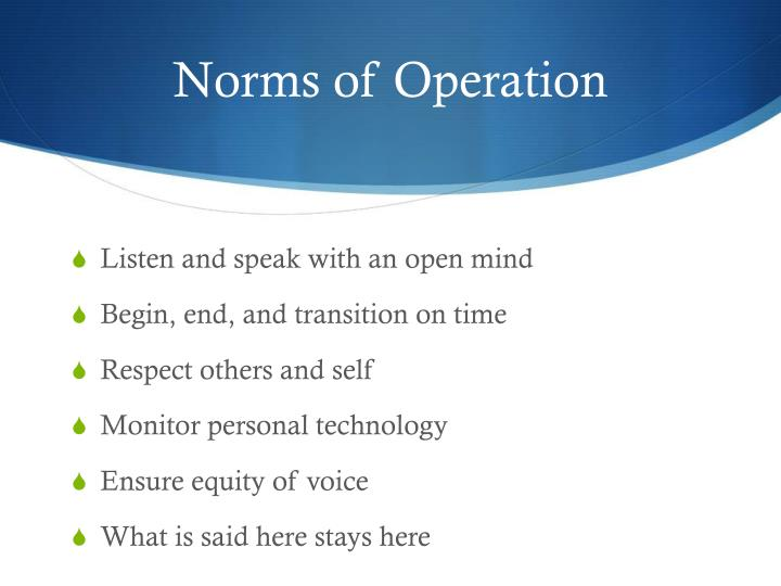 Norms of Operation