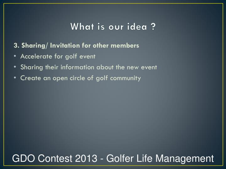 What is our idea ?