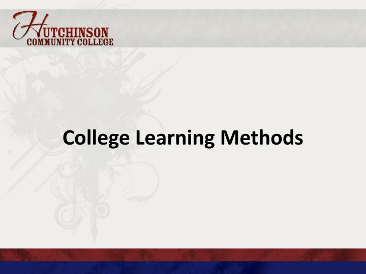 College Learning Methods