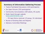 summary of information gathering process