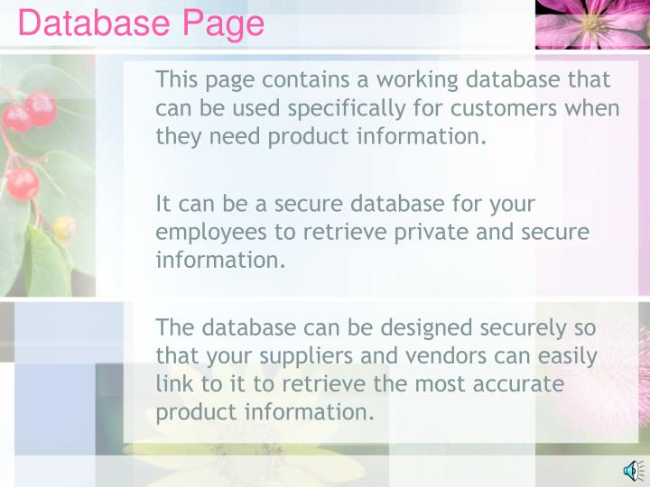 Database Page