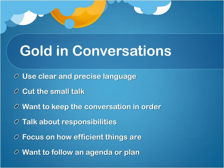 Gold in Conversations