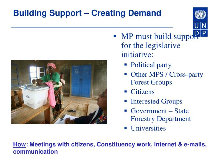 Building Support – Creating Demand