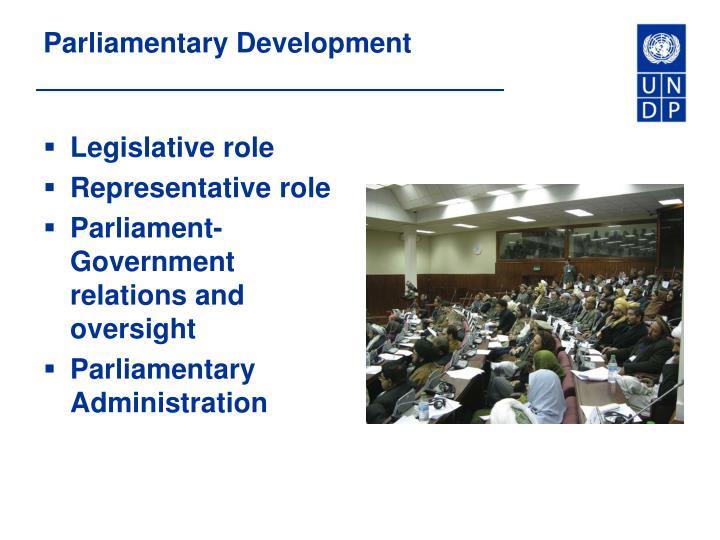 Parliamentary Development